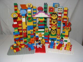 Large Lot Lego Duplo People Animals Cars Bases Blocks