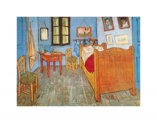 Vincent Van Gogh Room at Arles Bedroom Art Poster Print Limited RARE