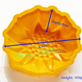 Round Flower Cake Baking Silicone Mold Cake Decorating Dessert Pan
