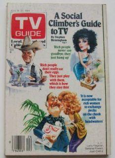 1984 June TV Guide Magazine Larry Hagman Joan Collins