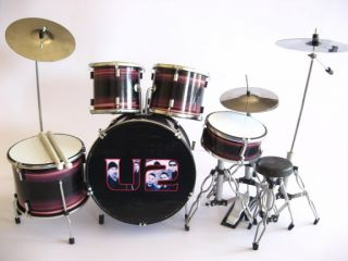 Miniature Drum Set Larry Mullen Jr Bono Edge U2 Music Gift