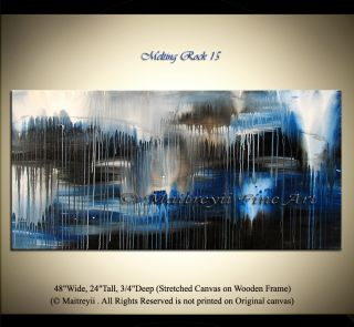 Modern Art, Original Abstract Art modern Paintings, Blue landscape Art
