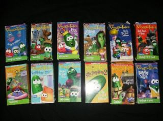 Big 12 Veggie Tales Lot VHS Christian Morals Education Kid Children