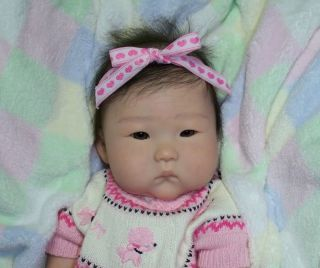 Reborn Asian Baby Girl Anming New Ping Lau Doll
