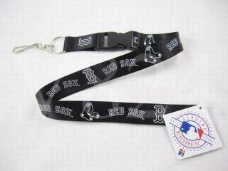 MLB Boston Red Sox Lanyard Keychain Key Chain Black