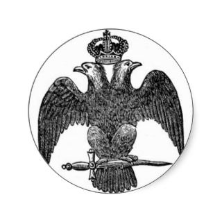 Double headed eagle sticker