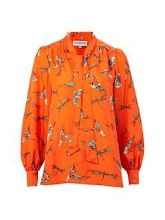 Mary Portas The Bird print silk blouse Multi Coloured