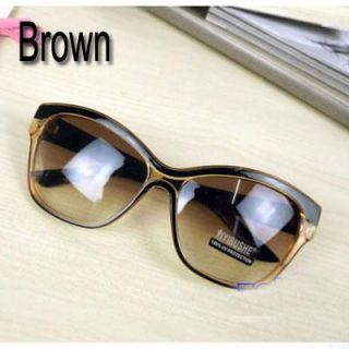 Brown Big Large Plastic Frame Glasses Fashionable Designer Eyewear