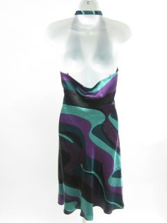 Laundry by Shelli Segal Multicolor Silk Halter Dress 6