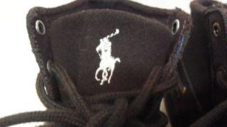 Ralph Lauren Polo $65 Brown Classic Suede Court High Top Sneaker J 5
