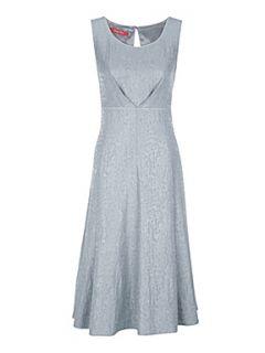Jacques Vert Ritz jacquard dress Grey
