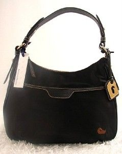 188 Dooney Bourke Nylon East West Colling Bag w Leather Trim Black 35