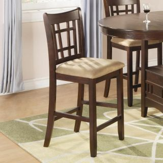 Wheat Back Cherry Finish Counter Stool Chair by Coaster 100889N Set of