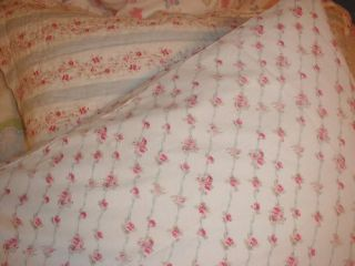 Rachel Ashwell Sheet Set French Blue Ribbon Rose Twin