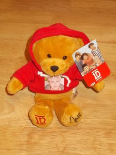 2012 ONE DIRECTION 1D 9 12/ Plush Teddy Bear w/ Hoodie NIALL New With