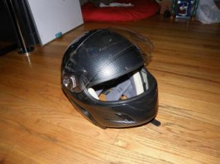 TMS Large Dot Motorcycle Helmet Black Gray Geometric Full Face
