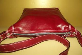 Latico Gorgeous Cranberry Red Leather Shoulder Bag Handbag Purse Near