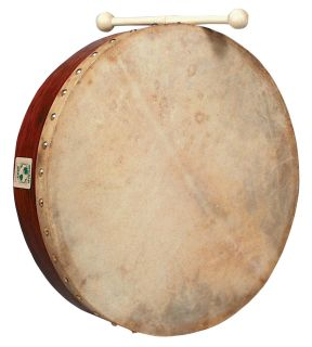 New Latin Percussion World Beat 16 Bodhran Drum WB281 Case Included