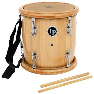 New Pro Quality Latin Percussion Tambora Merengue Wood Drum w EXTRAS