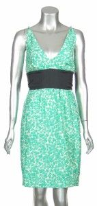 Plenty Frock by Tracy Reese Womens 100% Silk Green Lilian Clover Short