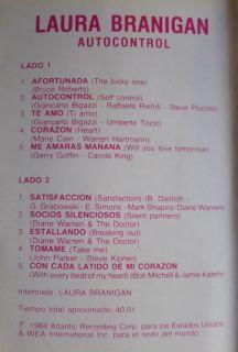 Laura Branigan Autocontrol Argentina Tape