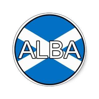 Scotland Alba Euro Sticker