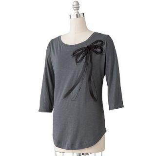 NWT LC Lauren Conrad Bow Embellished Rounded Bottom Soft Stretch