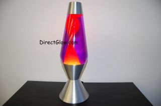 52oz Lava Brand Motion Lamp Purple Liquid w Yellow Lava