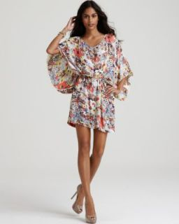 Sam Lavi New Zafra Multi Color Floral Print V Neck Casual Dress s BHFO
