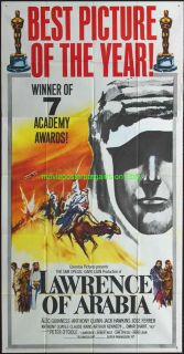 Lawrence of Arabia Movie Poster 41x81 Three Sheet Style B VF Peter O