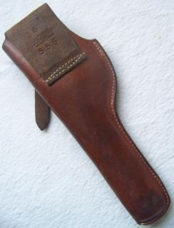 George Lawrence Leather Holster 28 556 Tooled Western RH Hip Holster