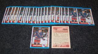 25 Brian Leetch 1989 90 O Pee Chee New York Rangers Mint RC Rookies