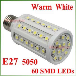 11W E27 LED Light Bulbs Warm White 110 230V 60 LEDs New