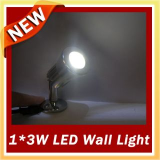 LED Wall Light Night Lamp 3W 1 3W White 160LM 110 240V High Brightness