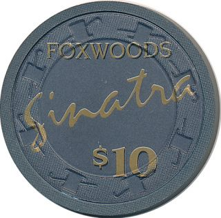 10 Foxwoods Casino Chip Ledyard Connecticut Paulson Frank Sinatra