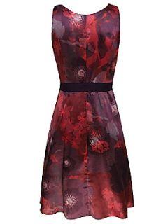 Kaliko Garnet Floral Prom Dress Red