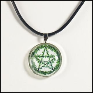 Ivy Leaf Pentacle Pendant Necklace Wiccan Pentagram Nature Lovers