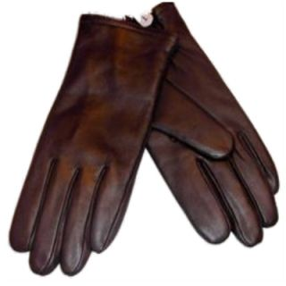 Womens Butter Soft Brown Leather Gloves