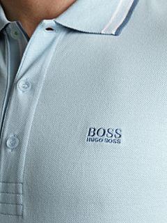 Hugo Boss Classic logo tipped detail polo shirt Skylight