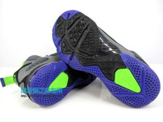 Nike Lebron 9 GS Basketball Black Electric Green Grey Size 4 0 Y Woman