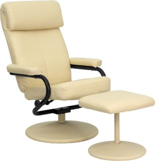 2pc Contemporary Modern Leather Recliner Chair Ottoman Set FF 0529 12