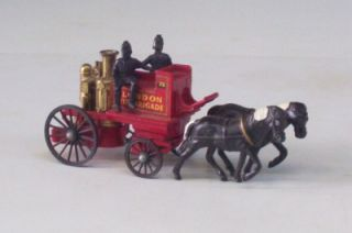 Horse Drawn Fire Engine Lesney England Matchbox Yesteryear Shand Mason