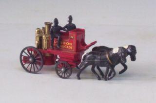 Horse Drawn Fire Engine Lesney England Machbox Yeseryear Shand Mason
