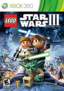Lego Star Wars 3 III The Clone Wars Xbox 360 Genuine Game Brand New