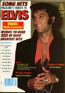 Song Hits Tribute Magazine to Elvis Presley Priscilla Lisa Marie