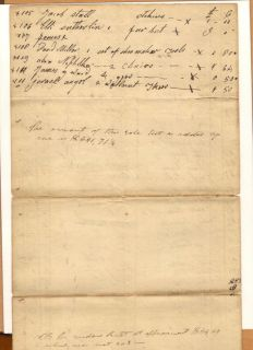 Shilling Harrison County Ohio Handwritten Penmanship Ledger