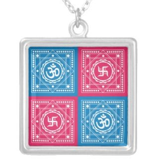 Om & Swastika Signs Pendants