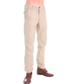Mens Dockers Tapered Leg Slim Fit Chinos Cargo Pants Trousers Beige 30