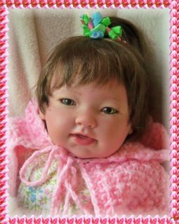 Asian Berenguer Baby Girl Doll w Lee Middleton Body and Limbs