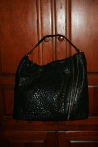 New Marc by Marc Jacobs Flash Leola Black Leather Zipper Hobo Purse